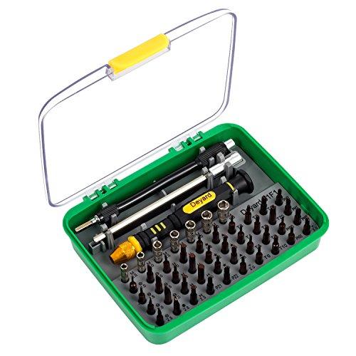 Deyard Erweitertes SG-456 Präzision Schraubendreher Set, Schraubenzieher Werkzeuge Reparatur von iPhone Laptop Smartphone MacBook MP3 Xbox Uhren Brillen Spielzeug Ladegeräten, mit Tasche