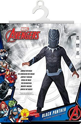 Rubies–Disfraz clásico Black Panther Talla i-640907l, L