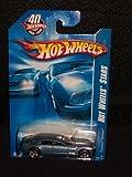 2008 Hot Wheels Stars 085 85 Medium Blue Cadillac Sixteen on 40th Anniversary Card 1:64 Scale by Hot Wheels