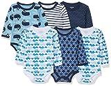 Care Baby - Jungen Langarm-Body im 6er Pack, Blau (Dark Navy 778-2), 6 Monate (Herstellergröße: 68 )