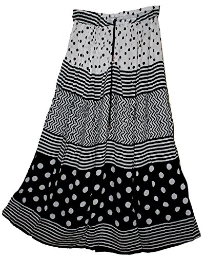 jnb-viskose-falten-rock-bw-dot-indian-hippie-gypsy-kjol-rock-jupe-falda-retro-stil-damen-ehs