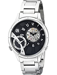 Charles-Hubert, Paris Men's 3967-B Premium Collection Analog Display Mechanical Hand Wind Silver Watch