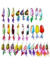 Freefisher - Kit de señuelos y ganchos (30 unidades), para la pesca de lucio, perca y lucioperca