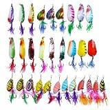 Free Fisher 30 Teilig Blinker und Spinner Sortiment für Hecht