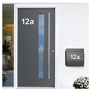 Wandora W1473 Wandtattoo Hausnummer selbstklebend I weiß Höhe 20 cm Zeichen 2 I Zahlen Buchstaben Ziffern Tür Beschriftung