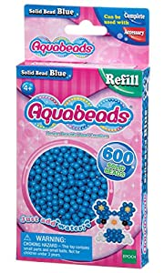 Aquabeads- Solid Beads, Color Azul (Epoch para Imaginar 32568)
