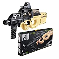 HAPPYTOYS P90 Auto Continuous Water Gun Paintball Toy Gun for Children Cool Gifts,Yellow