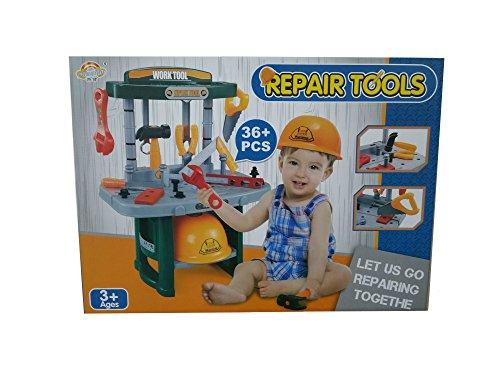 Kinder, die Workstation Builders Werkbank mit Repair Tools (36pcs) ideal Weihnachts Geschenk Set für Kinder/Kids–Jungen oder Mädchen Über 3+ Weihnachtsgeschenk (Up Legos Light)