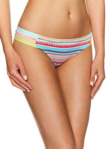 oodji Ultra Donna Bikini Slip Motivo Etnico, Turchese, IT 2 / EU 38 / S