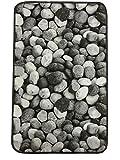 Teppich cm 50x 80cm Fußmatte Steine Stein Pebble Rutschfest Waschbar in Waschmaschine
