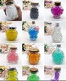 J & J Boîte 35g 12Couleurs différentes Perles d'eau Gel Perles d'eau Cristal Gel Terrain gélatine Perles Vase pour décoration Mariage Noël Jardin Cuisine séjour