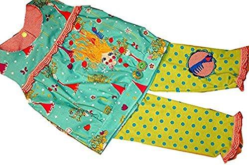 Bunte Mädchenbluse mit Legging,Prinzessin, Gr.98/104, Mädchen Tunika 98/104,Sommertunika für Mädchen,C-Fashion-Design