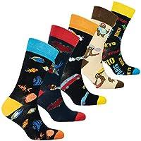 Socks n Socks-Men's 5pairs Cotton Colorful Funky Funky Novelty Socks Gift Box