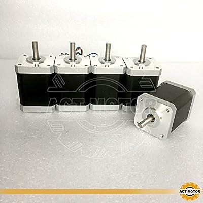 Act GmbH 5Pcs Nema17Stepper Motor 17hs6416d6l22p5.512Step Motor 1.6A 60mm 70N. cm CNC 3D RepRap Robot