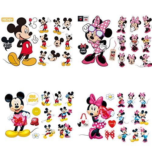 Kibi Wandtattoo Mickey Mouse Wandtattoo Mickey und Minnie Wandaufkleber Mickey Mouse wandsticker Mickey Maus Wandsticker Kinderzimmer Micky Mouse Aufkleber Wanddeko Wandsticker Minnie Maus