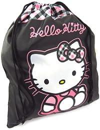 """Sac piscine """"Hello Kitty"""" noir rose"""