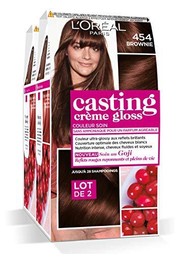 L'Oréal Paris Casting Crème Gloss Coloration Ton Sur Ton Sans Ammoniaque 4.54 Brownie Lot de 2
