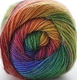 RoseColor Hand gefärbt Farbverlauf Wolle Garn–Rainbow