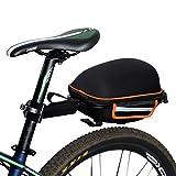 West Biking, wasserdichte Gepäckträgertasche für das Mountainbike/Fahrrad, Fahrradtasche mit Schnellverschluss, Rahmen und wasserdichter Regenschutz inklusive, Schwarz / Orange