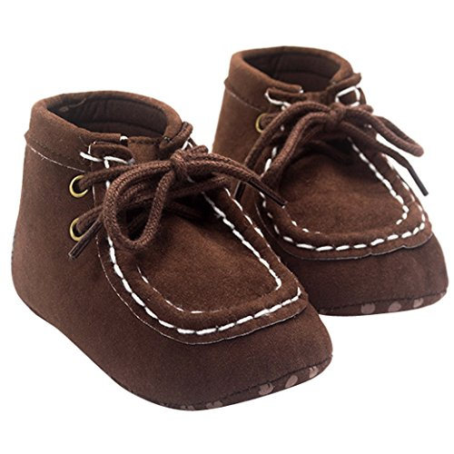 Tangda 1 Paire Bottes de Neige Bébé Fille Garçon Bottines Chaussures Premiers Pas Chaud Hiver Chaussons pour 0-18mois Multicolore Optique Printemps Marron