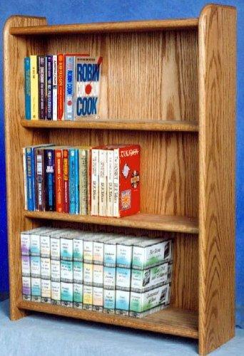 3 Shelf Media Storage (Honey Oak) by Wood Shed - Oak Media Storage