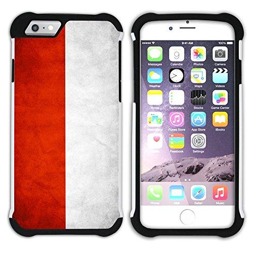 Graphic4You Vintage Uralt Flagge Von China Chinesisch Design Hart + Weiche Kratzfeste Hülle Case Schale Tasche Schutzhülle für Apple iPhone 6 Plus / 6S Plus Indonesien Indonesier