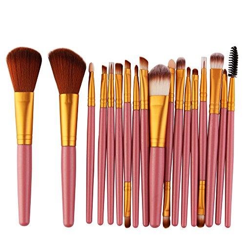 Siswong Make-up-Sets, 18-Tlg Make-Up-Pinsel-Set Werkzeuge Make-Up-Toilettenartikel-Set Wolle Make-Up-Pinsel-Sets
