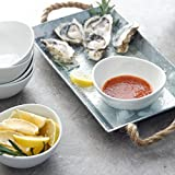 Sweese 1106 Schalen 6er Set aus Porzellan, 280 ml, Dessertschale, Snackschale, Eisschale, Schüssel