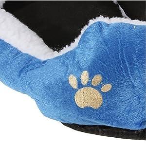 PANIER CORBEILLE NICHE COUSSIN MATELAS LIT CHIEN CHAT ANIMAUX 46*42*15cm petite Taille Bleu