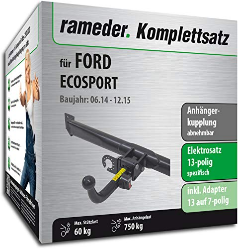 Rameder Komplettsatz, Anhängerkupplung abnehmbar + 13pol Elektrik für Ford ECOSPORT (132610-11479-1)