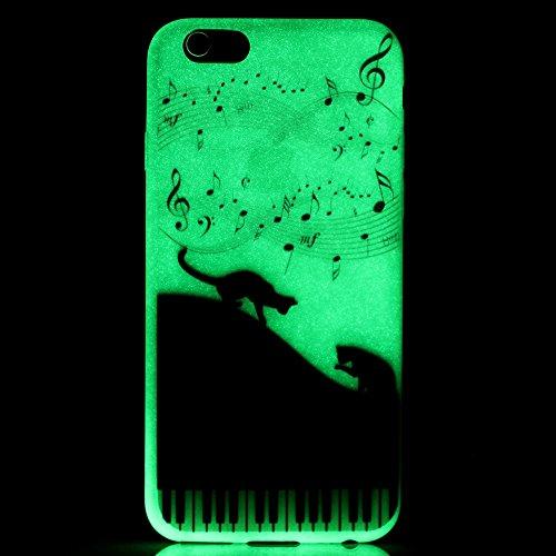 Cover per iPhone 6S 4.7 Luminoso,Silicone Custodia per iPhone 6 4.7,BtDuck Ultra Slim Creativo Nottilucenti Luminoso Flessibile TPU Morbido Silicone Protettiva Cassa Trasparente con modello Crystal Cl #15