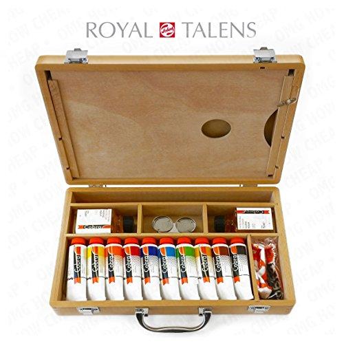 royal-talens-cobra-art-huile-miscibles-a-leau-de-premium-etui-en-bois-avec-pinceaux-peinture-palette