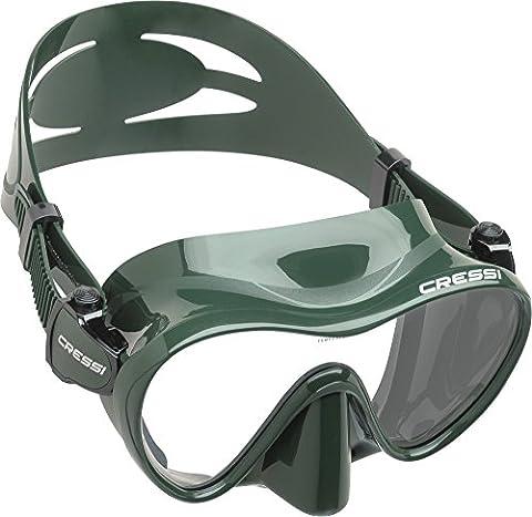 Cressi Unisex Tauchmaske F1, grün, one size, ZDN285000