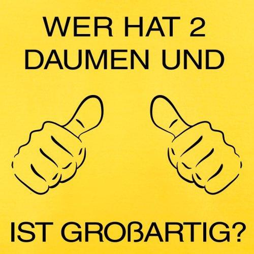 WER HAT ZWEI DAUMEN UND IST GROßARTIG - Herren T-Shirt - 13 Farben Gelb
