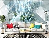 3D Foto Tapete 3D Stereo Abstrakte Geometrie Wasserfall Wandbild Schlafzimmer Wohnzimmer Sofa Tv Hintergrund Wand Tapete 400cm(W) x280cm(H)
