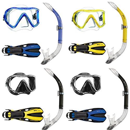 Mares i3 Einglasmaske Tauchermaske + Sailor Ventil-Schnorchel + Volo One Schnorchelflosse