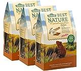 Dehner Best Nature Nagerfutter, Meerschweinchenfutter, Pellets, 2 kg, 3er Pack (3 x 2 kg)