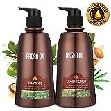 Skymore Arganöl Haarpflege Set, Shampoo + Conditioner (2x350ml), Haarwachstum Beschleunigen, Haar Kräftigen, Für Trokenes und Strapazieres Haar