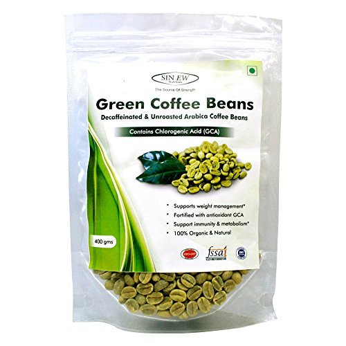 Sinew Nutrition Green Coffee Beans Decaffeinated & Unroasted Arabica Coffee...