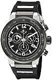 GV2 by Gevril Novara Mens Chronograph Swiss Quartz Black Silicone Strap Watch, (Model: 8203)