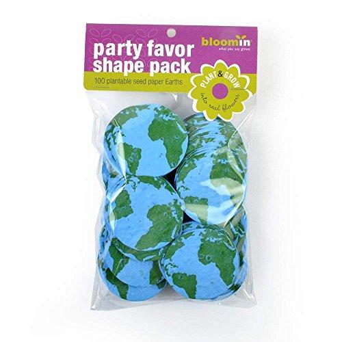 Bloomin Semillas de papel formas Packs – formas de tierra – 25 formas por paquete {azul verde}