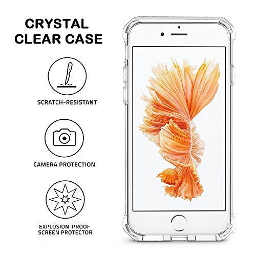 iphone 6 Plus Case, Walmark Apple iphone 6 Plus Crystal Clear Shock Absorption Technology Bumper Soft TPU Cover Case for iphone 6 Plus 5.5 inch Version- Clear