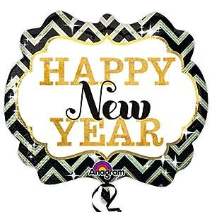 Amscan International 3003101 Happy New Year - Globo de papel de aluminio