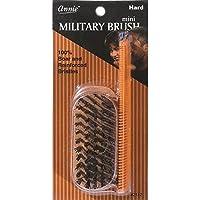 Mini Militare Rigida Pennello con 100% Cinghiale e Rinforzato Setole e 12.2cm Pettine Tascabile