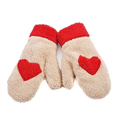 Butterme Sveglia Alla Moda di Amore del Cuore di Design Super Soft Guanti Warmer Fuzzy (Cotone Fuzzy)