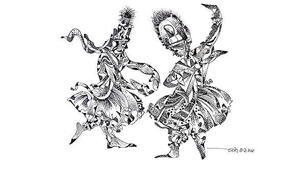 Kathakali Dance Ii Ink Wash Painting By Jayant Parikh Jayant Parikh Amazon In