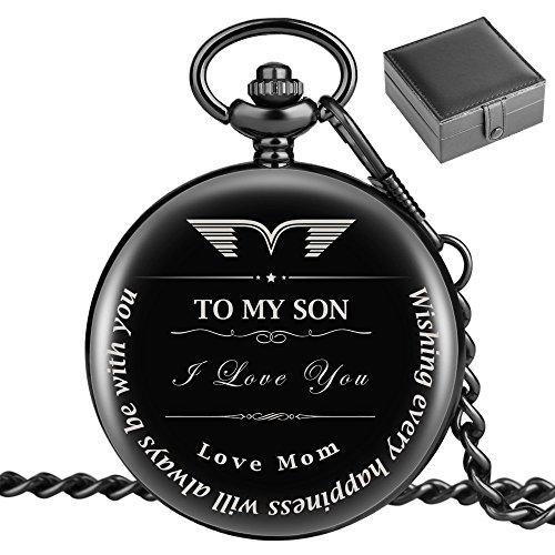 Taschenuhr, mit Geschenk von Mutter Sohn, mitTo My Son Love Mom, das Geschenk für Mutter, Sohn College mit 2018/Geburtstag–mit Geschenk für Sohn