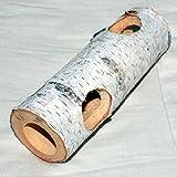 Nager-Spielzeug aus Holz hohler Baumstamm 1500x50x60 mm mit 4 Schlupflöcher 30 mm