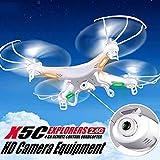 Cewaal Drone X5C-1 con videocamera Live Video + scheda di memoria 4G, rotolo aereo a 360 gradi, fly di tiro a mano, drone di trasmissione in tempo reale WiFi progettato per principianti