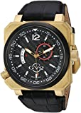 GV2 by Gevril Men's Analogue Quartz Watch with Leather Calfskin Strap 4521